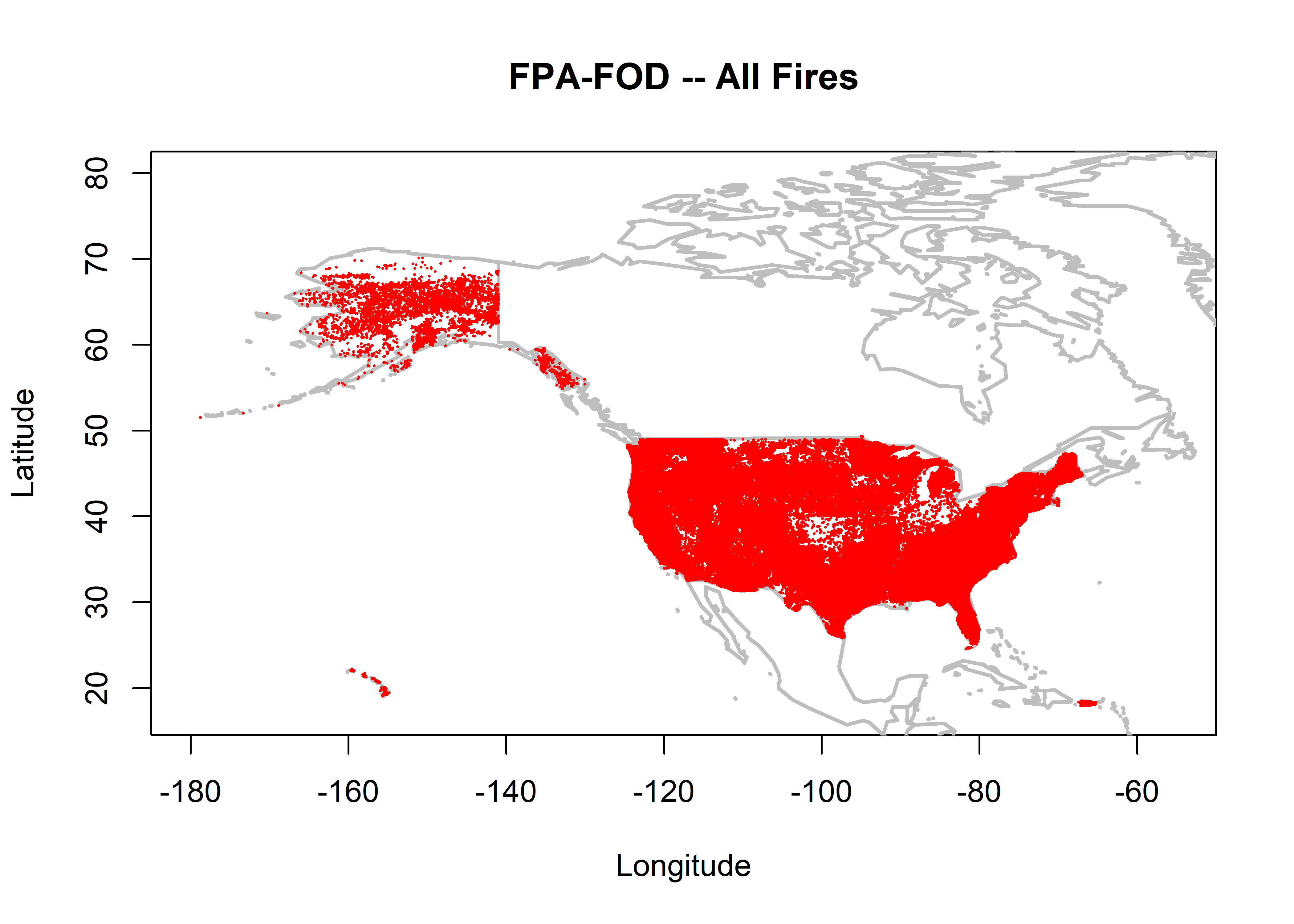 Nifc Large Fire Map.Intercomparison Of U S Fire Start Data Sets